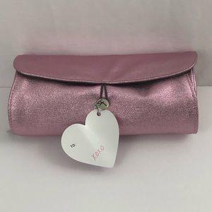 It cosmetics cosmic pink roll makeup bag new
